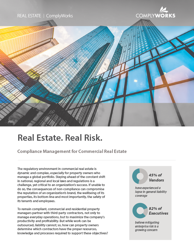 Image of ComplyWorks' Real Estate. Real Risk. White Paper