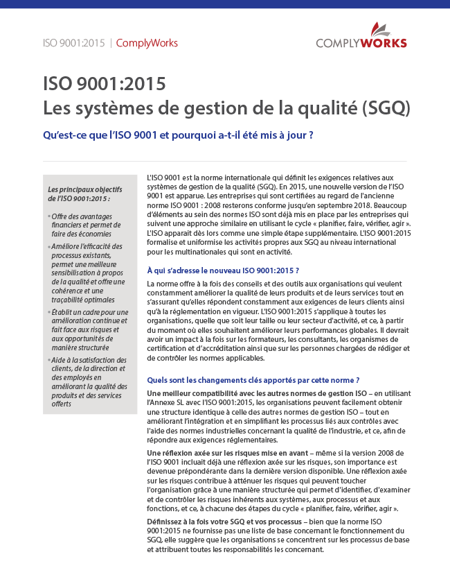 ISO 9001 French White Paper