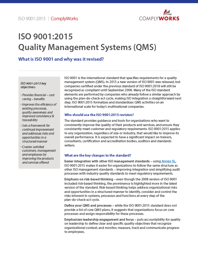ISO 9001 White Paper