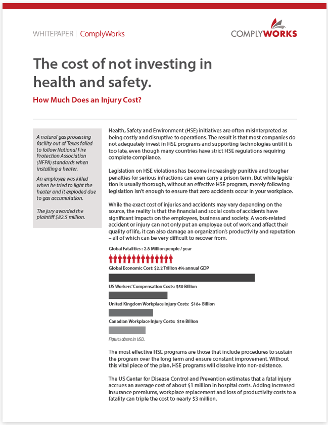 Image of The Cost of Not Investing in Health and Safety White Paper