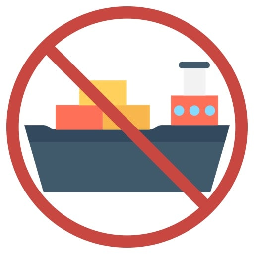 No shipping icon