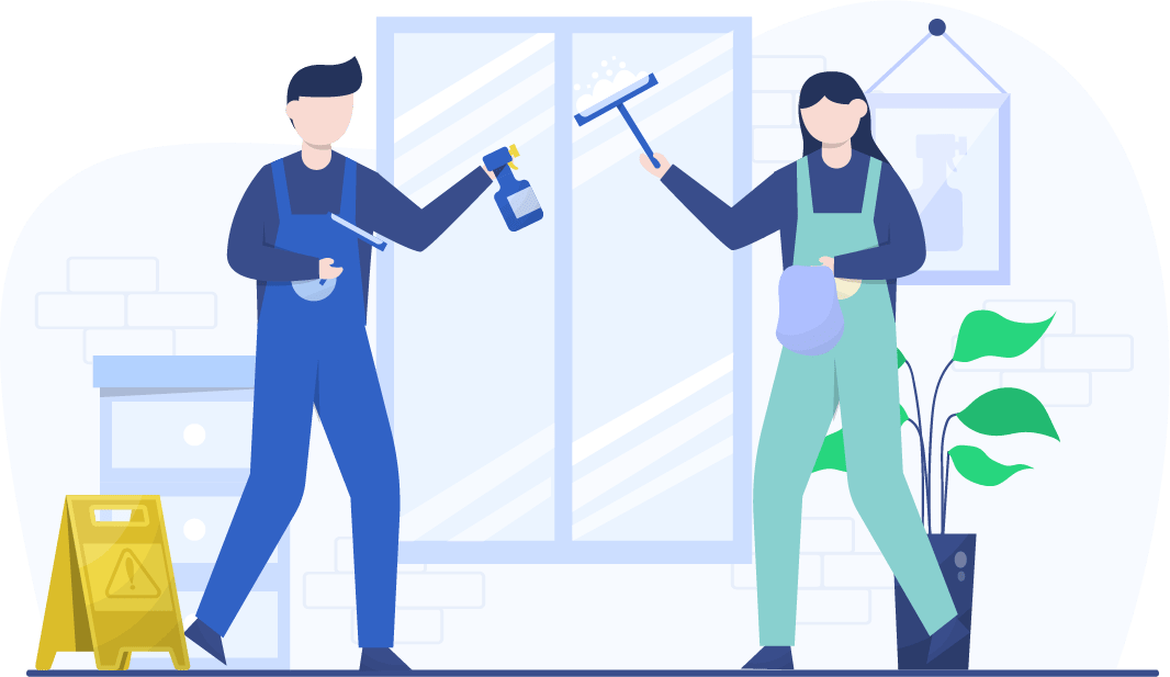 cleaning staff graphic