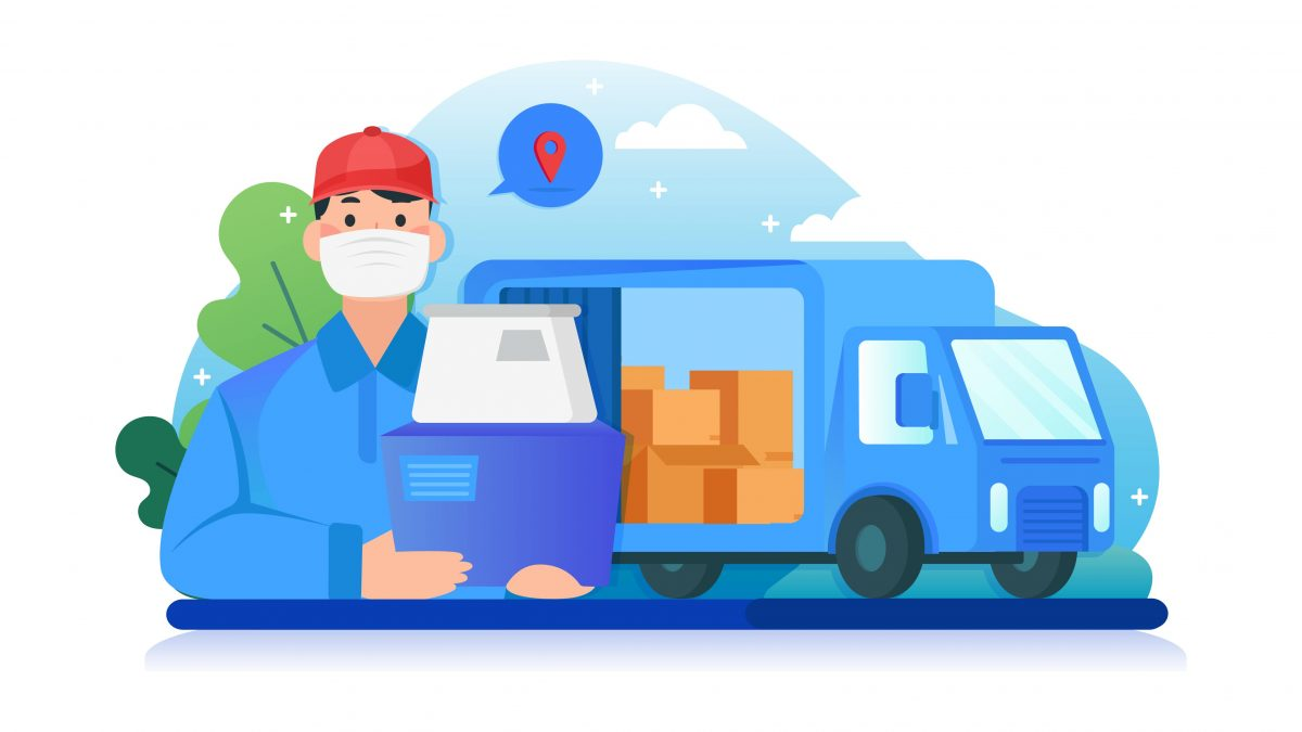Delivery person icon