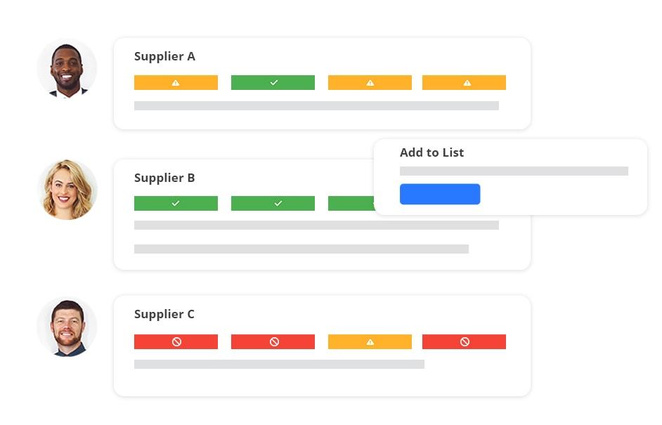 Stylized compliance screenshot